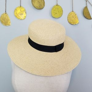 H&M Divided Floppy Straw Sun Hat Sz Small